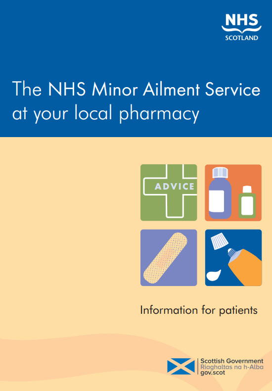 The cover of the Minor Ailment Service booklet
