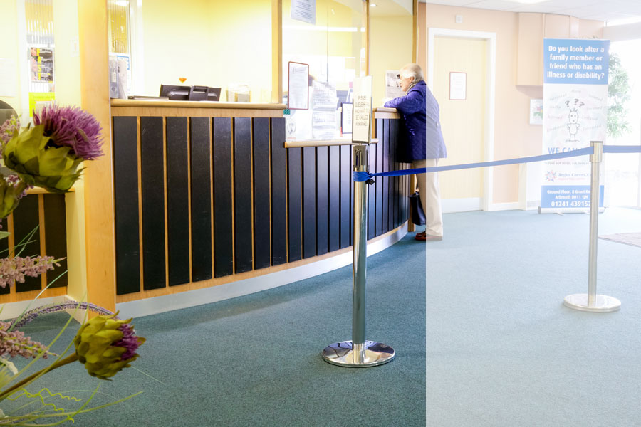 The Reception Desk and Foyer