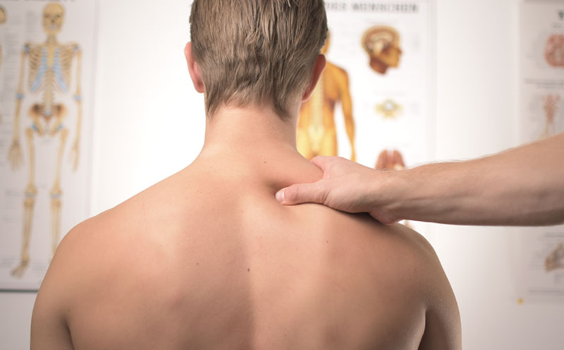 Photo of a person receiving physiotherapy