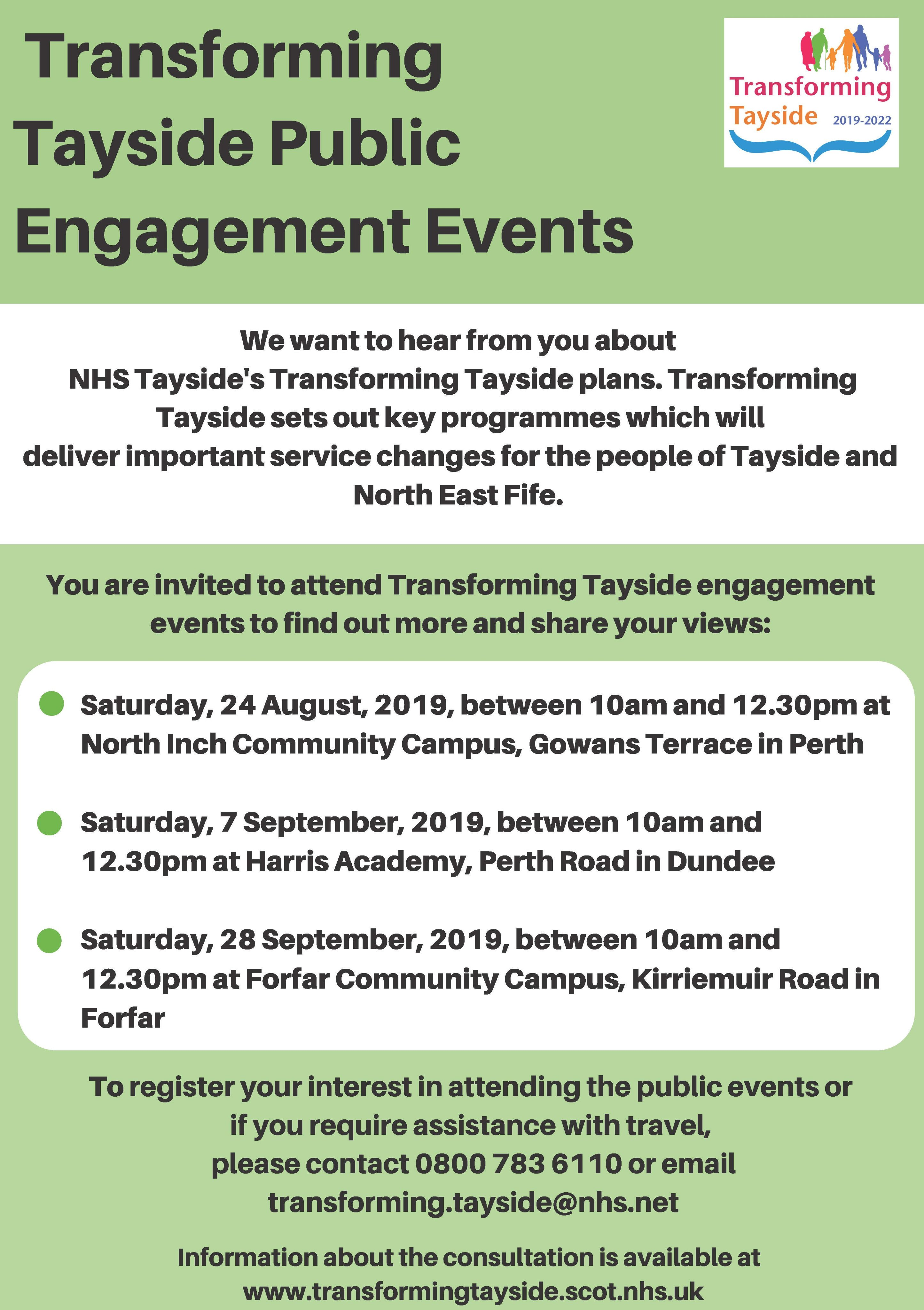 Transforming Tayside Poster