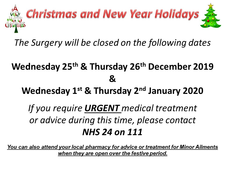 Christmas & New Year Closures